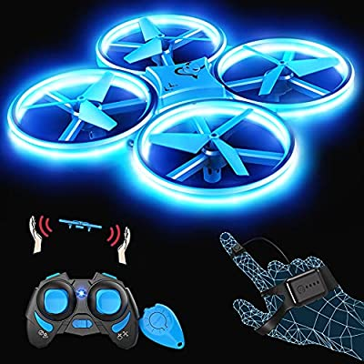 Snaptaⅰn SP300 Mini Drone, Hand Operated RC Quadcopter w/Throw'n Go, Multiple Remote Controls, G-Sensor Mode, 3D Flips, Altitude Hold, Headless Mode, Speed Adjustment, One Key Return from Snaptaⅰn