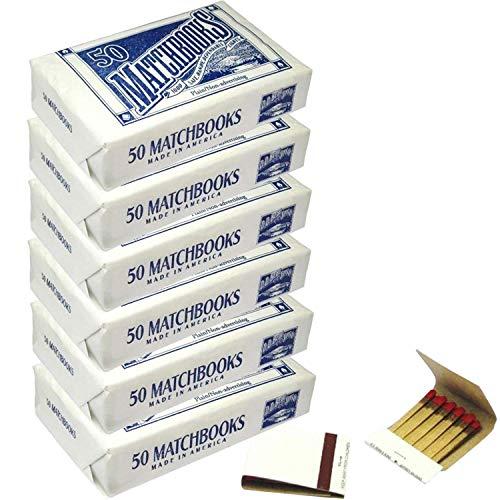 D.D. Bean & Sons White 300 Matchbooks, Wedding Birthday Wholesale, Made in America, 6 Pack