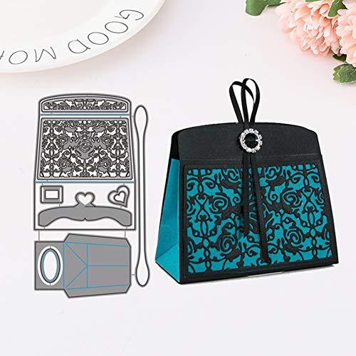 Metallstanzformen, modische Taschen-Schablone, DIY Scrapbooking Prägung Papier Karten Craft Decor multi