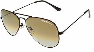 Swiss Military Gradient Aviator Unisex Sunglasses - (SUN7|58|Brown Color Lens)
