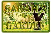 複製金属ティンサイン、ガーデンサインあなたの名前美しい色グロスパブハウス家の壁の装飾金属サイン、金属ティンサインデザイン可能なカスタマイズ中庭、屋内鉄塗装など