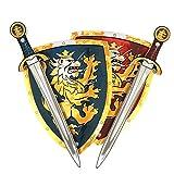 Liontouch 110LT Mittelalter Edler Ritter Spielzeug Set Für Zwei, Blau & Rot | Zwei Schwerter & Zwei Schilder aus Shaumstoff für Kinder