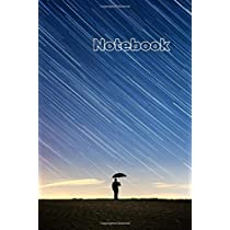 Notebook: College Ruled - 100 pages - Beautiful rainy sky Cover - Standard 6 x 9 - Lined Notebook
