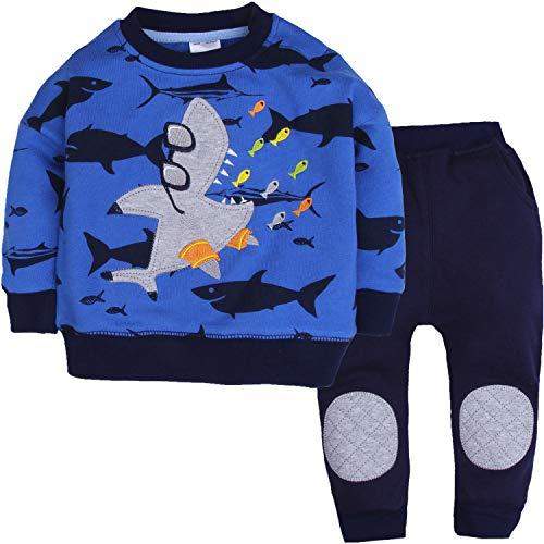 CARETOO Baby Jungen Bekleidungssets 2tlg Langarm Tops +Hosen Set Herbst Warme Babyset