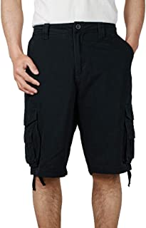 QBSM Men's Cargo Shorts, Relaxed Fit Multi Pocket Outdoor Cotton Cargo Shorts