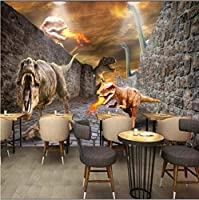 3D壁紙ポスター恐竜カスタム大規模な壁紙の壁紙3Dテレビの背景リビングルームの写真の壁紙3Dルームの壁紙-400X280cm