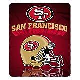 NFL San Francisco 49ers Gridiron Fleece Throw, 50-inches x 60-inches