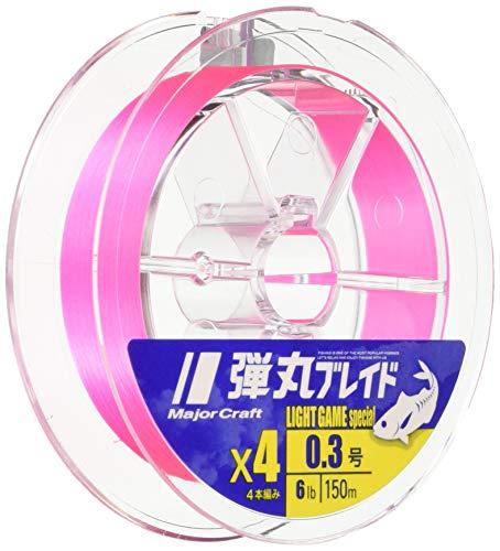 メジャークラフト PEライン 弾丸ブレイド 4本編み ライトゲーム用 DBL4-150/0.3PK ピンク 150M/0.3号