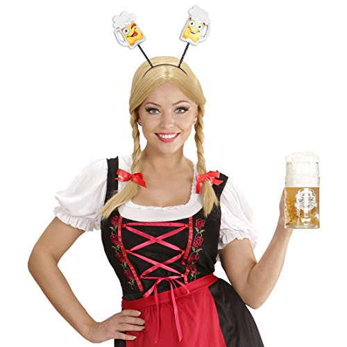 NET TOYS Diadema Oktoberfest Banda del Pelo Cerveza Decoración Jarra de cervecera Adorno Cabeza Gracioso Complemento Cabello Birra Accesorio Disfraz Baviera