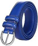 cobalt blue belt - Falari Women Genuine Leather Belt Fashion Dress Belt With Single Prong Buckle 6028-RoyalBlue-XL