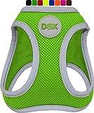 DDOXX Brustgeschirr Air Mesh, Step-In, reflektierend | viele Farben | für kleine, mittlere & mittelgroße Hunde | Hunde-Geschirr Hund Katze Welpe | Katzen-Geschirr Welpen-Geschirr | Grün, XS