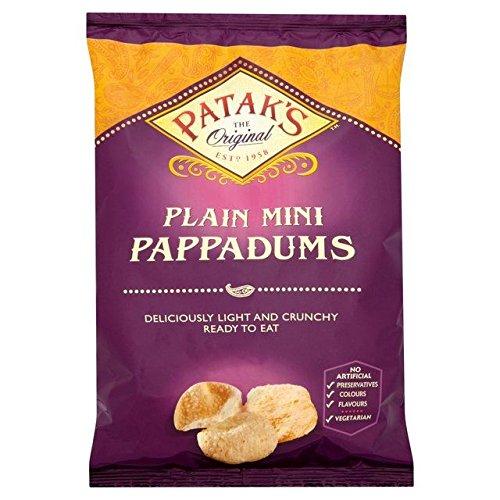 Patak's Mini Plain Pappadums - 75g