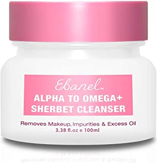 Ebanel Makeup Remover Cleansing Balm, 1-Step Nourishing Sherbet Oil Cleanser, Instantly Removes Waterproof Mascara, Makeup and Impurities, Moisturizes Skin with Vitamin C, Peptide, Stem Cell Extracts