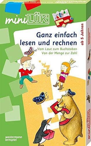 Preisvergleich Produktbild miniLÜK-Sets: Georg-Westermann-Verlag miniLÜK Set Ganz einfach Lesen / Rechnen: Kasten + Übungsheft / e / Vorschule / 1. Klasse - Mathematik