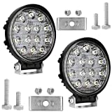 AllExtreme EX14RW2 14 LED Round Fog Light 4 Inches Waterproof Off Road Driving