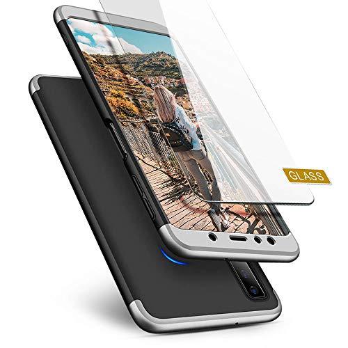XCYYOO hoes voor Samsung Galaxy A60 met camera, Samsung Galaxy A7 2018, zwart en zilver.