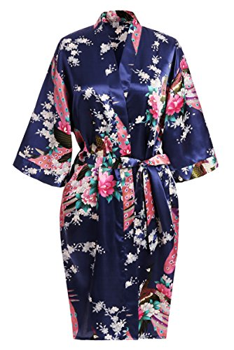 USDisc't Elegant Women's Kimono Robe for Parties Bridal and Bridesmaid...