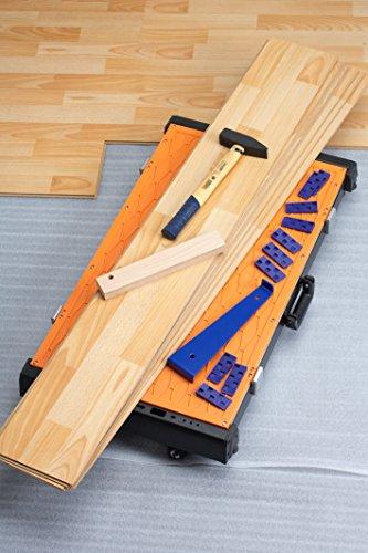 Meister Universal-Werkbank 4 in 1 ✓ Tritt-Hocker ✓ Rollbrett ✓ Transportroller | Mobiler Arbeitstisch mit Tragegriff | Höhenverstellbare Werkzeugbank | Werktisch mit wendbarer Arbeitsplatte | 9079600 - 8
