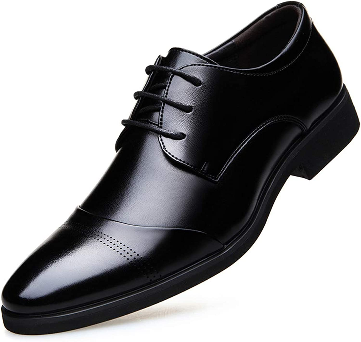 Men's Business Leather shoes Pointed Formal shoes Wedding Prom shoes Fashion Party & Evening Leather shoes,A,43