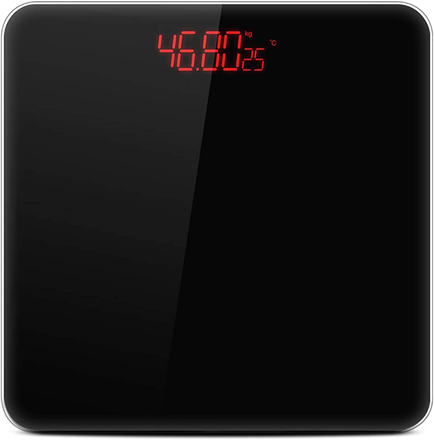 Mzqyq Weight scale household usb electronic scale sensor switch LED display (color   Black)