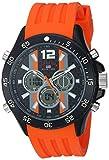 U.S. Polo Assn. Men's Analog-Quartz Watch with Rubber Strap, Orange, 23 (Model: US9526)