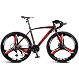 AZYQ Bici da strada per adulti, bicicletta da corsa per uomo con doppio freno a disco, bicicletta da...