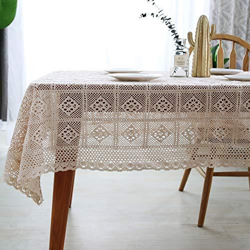 KBG Algodón Puro Pastoral Fresco Hogar Mesa De Comedor Crochet Encaje Mantel Hueco Mesa De Café Cubierta De Piano Toalla Mantel