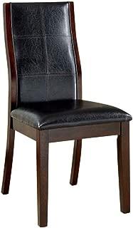 William's Home Furnishing Toronto Side Chair, Dark Oak