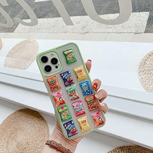 DNZJHHM Personalidad Creativa Bolsa de Papa de Papa Tridimensional Teléfono Cubierta Cubierta de Cubierta para Apple iPhone 11 Pro XS MAX X XR 8 7 6 6S Plus 5S SE-A01_para iPhone 8