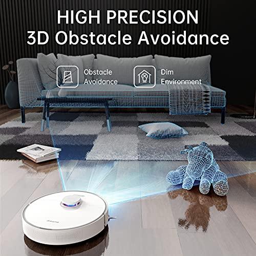 Dreame L10 Pro Robot Aspirador y Fregasuelos con Detección de Obstáculos 3D en Tiempo Real, Navegación por Mapa con Láser, 4000 Pa, Autonomía de 150 Minutos, WiFi/Alexa/App, para Mascotas, Alfombras
