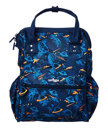 Smiggle Backpack/Dimi Tote Bag 'Now You See Me' (Navy Blue Planets)