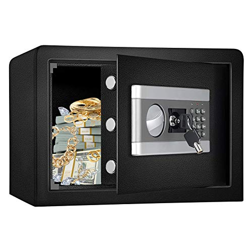 Fireproof and Waterproof Safe Cabinet Security Box, Digital Combination Lock Safe with Keypad LED...