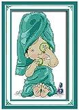 Kit De Punto De Cruz, Patrones De Bordado Fáciles, Manualidades De Costura, Para Adultos Niños,Belleza Y Manicura 40X50Cm 11Ct (Lienzo Preimpreso)