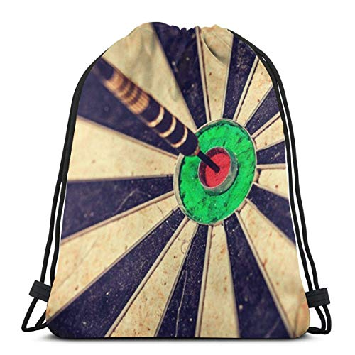 ARRISLIFE Reisepaket Casual Daypack,Sporttasche,Unisex Kordelzug Taschen,Schulschultertaschen,Retro Target Dartboard Drawstring Trainer Bag