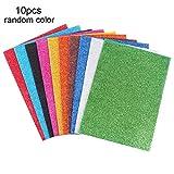 10PCS EVA Glitter Craft fogli di schiuma colorati fogli di carta spugna artigianato Crafting Spugna per le arti Migliora la tua casa, in aula, Scrapbooking, Parti (210 * 297mm)