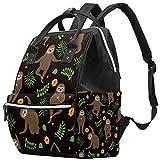 Sloth On A Branch - Mochila para pañales multifunción, bolsa de viaje de maternidad, bolsa de cambiador, gran capacidad, impermeable y elegante Perezoso Yoga Talla:27x19.8x36.5cm/10.6x7.8x14in