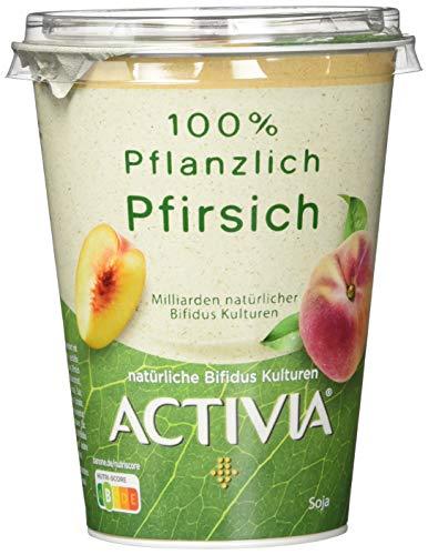 Activia 100% Pflanzlich, Soja Pfirsich, 400 g