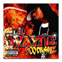 Suuyar Lil Wayne 500 Degreez 2002 Rap Hip Hop Music Album Poster And Prints Wall Art Print On Canvas For Living Room-20X20 Inchx1 Frameless