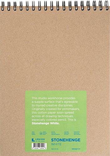Legion Stonehenge Drahtblock, Baumwolle, Büttenrandpapier, 22,9 x 30,5 cm, weißes Papier, 32 Blatt