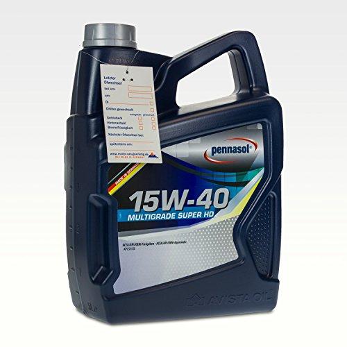 Pennasol Multigrade Super HD SAE 15W-40 Motoröl, 5 Liter