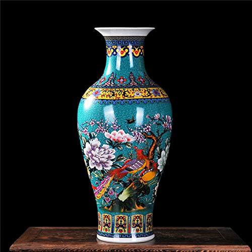 ZYG222 Porseleinen karper staartvormige vaas klassieke decoratie grote Chinese vaas oude hof vaas
