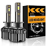 LRTER H1 LED Headlight Bulbs 60 W 12000 Lumens Extremely Bright 6000K Upgraded CSP Chips Conversion Kit Halogen Replacement IP68 Waterproof, Pack of 2