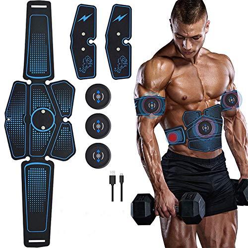 SZYM Electroestimulador Muscular Abdominal EstimulacióN Muscular EléCtrica Entrenador De Abdominales Gimnasio En Casa Equipo De Fitness CinturóN Adelgazante Corporal Unisex