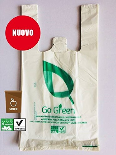 100 White Envelopes Bags Biodegradable Compostable Food 22 + 12 x 40 for shops, home Uses a Strap and Loop for Hanging + 10 cups Rack Sauces 125 cc