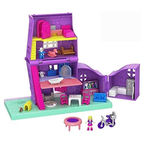 Polly Pocket- Playset Richiudibile Casa Giocattolo per Bambini 4+Anni, GFP42