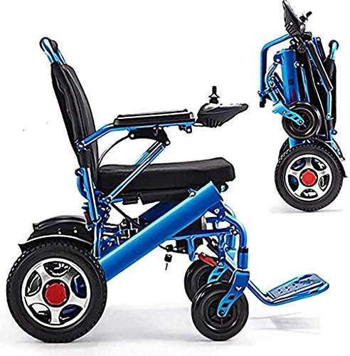 silla de ruedas Llevar a pedales plegables ligeros, motos de lámparas portátiles, sillas de ruedas eléctricas inteligentes y seguras, fáciles de conducir, silla de ruedas automática cojín del asiento