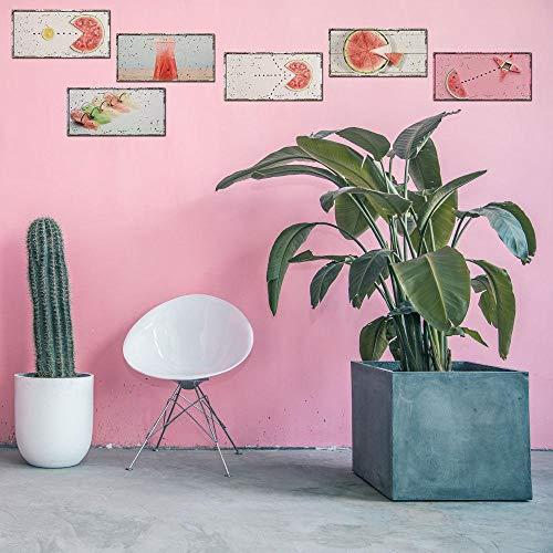 DZBMY Wandtattoos Wandsticker Wandaufkleber,Wassermelone stellte Selbstklebende Wand-Aufkleber nachgemachte Kfz-Kennzeichen-Wand-Aufkleber-dekorative Malerei EIN