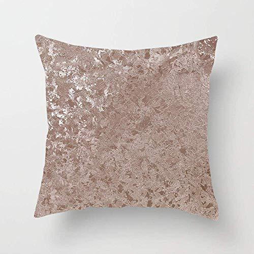 45x45CM Fundas de Almohada Terciopelo triturado metalizado oro rosa Transpirable Suave Fundas de Cojín del Coche para Sofá Cama