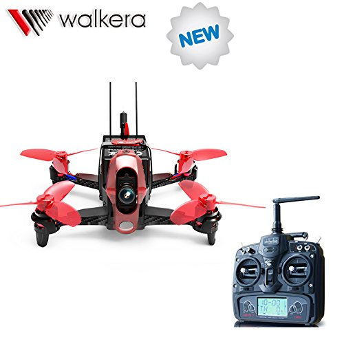 Walkera Rodeo 110 110mm with DEVO 7 Remote Controller RC Racing Drone Quadcopter RTF with 600TVL Camera Battery Charger (no FPV Goggle4 Glasses)