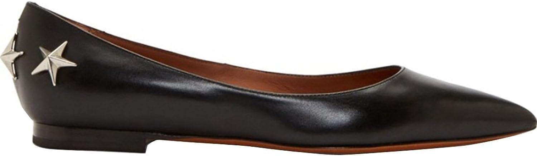 TDA Women's Classic Pointed Toe Sheepskin Comfort Flats shoes